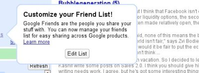 customize your friends list