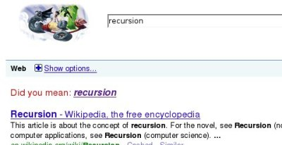 did you mean recursion