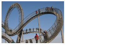 Rollercoaster staircase