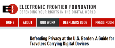 EFF Guide for Travelers Carrying Digital Devices