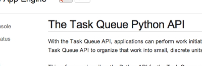 The Task Queue Python API