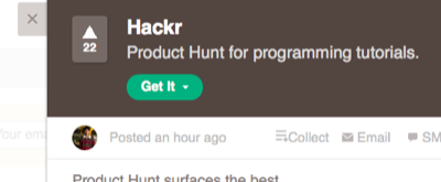 hackr. product hunt for programming tutorials