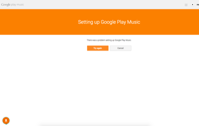 There was a problem setting up Google Play Music
