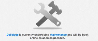 delicious is currently undergoing maintenance