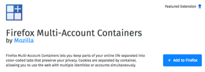 Multi-Account Containers