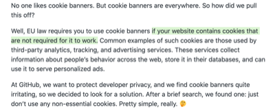 only if your website requires cookies that are not required for it to work
