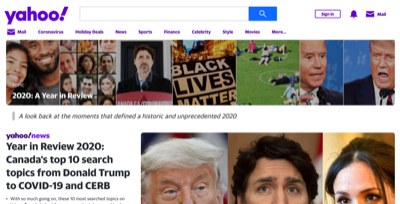yahoo year in review 2020 canada