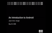 video: Google I/O 2008 - An Introduction to Android