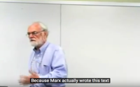 video: Reading Marx's Capital with David Harvey