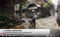 video: Taiwanese grandpa plays Pokemon Go on 24 phones on his bicycle