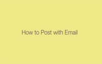Posterous: How to post with Email