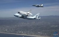 video: FA18 extended view of Space Shuttle Endeavour