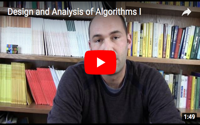 Design and Analysis of Algorithms I